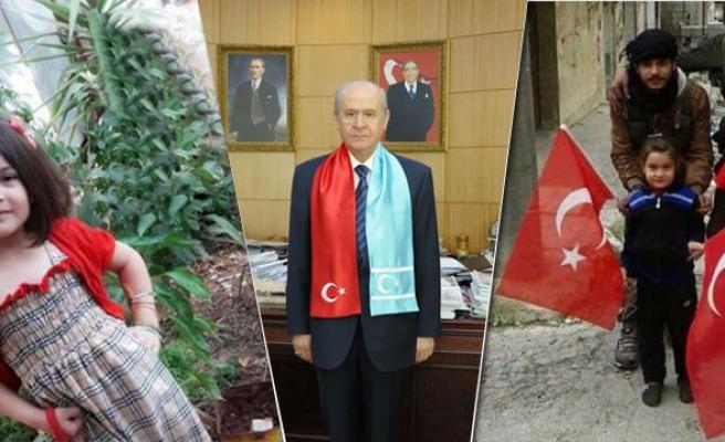Türkmen balası Elif, Türkmen Beyi Bahçeli sayesinde Türkiye'de