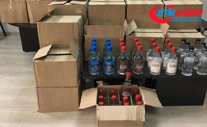 Manavgat'ta kaçak içki operasyonu