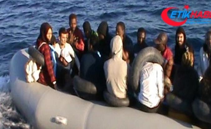 Ayvalık'ta 45 göçmen Sahil Güvenlik'ten kaçamadı