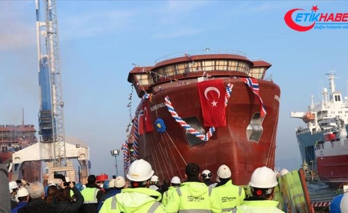 Norveçli firma için Yalova'da inşa edilen gemi denize indirildi