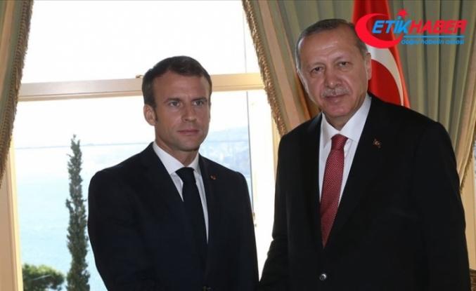 Erdoğan ile Macron Libya ve Suriye'yi görüştü
