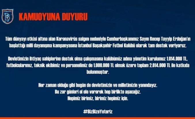 Medipol Başakşehir'den dayanışma kampanyasına tam destek