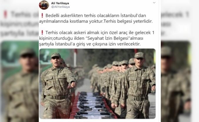 Vali Yerlikaya'dan bedelli askerler ve cenaze izinlerine ilişkin açıklama