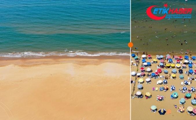 Plaj ve sahiller sessiz kaldı