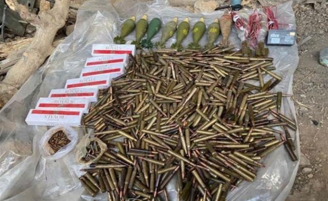 Terör örgütü PKK'ya ait çok sayıda silah ve mühimmat ele geçirildi