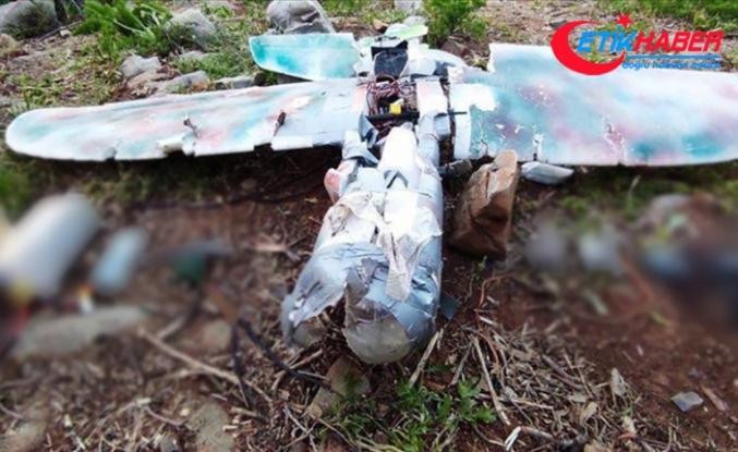 Irak'ın kuzeyinde teröristlerin Mehmetçik'e saldırı amaçlı kullandığı maket uçak düşürüldü