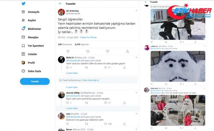 Vali ile öğrencilerin sosyal medyadaki 'kar tatili pazarlığı' güldürdü