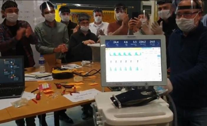 Yerli solunum cihazında ilk prototip üretildi, ilk teslimat 15 Nisan'da