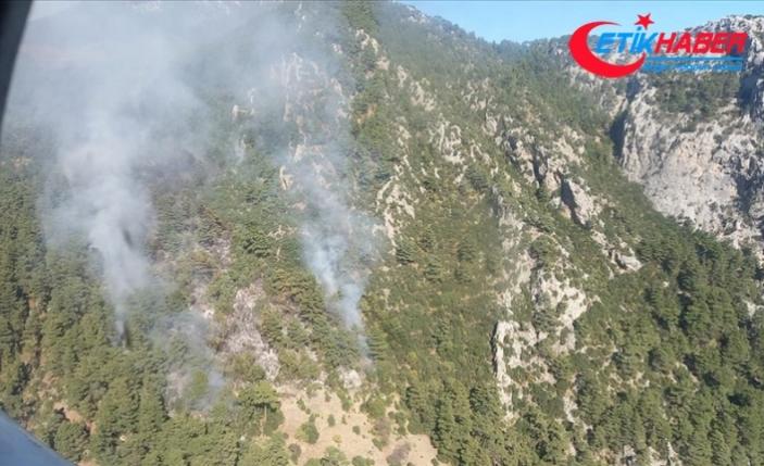 Antalya'da çıkan orman yangınına müdahale ediliyor