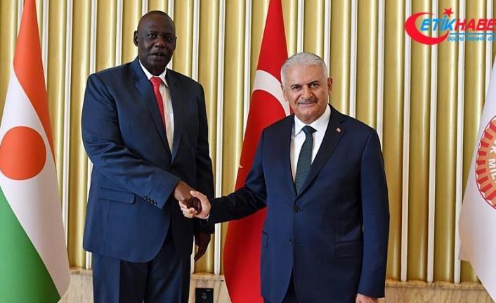 TBMM Başkanı Yıldırım, Nijer Meclis Başkanı Tinni'yi kabul etti