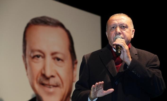 """Cumhurbaşkanı Erdoğan: """"Milletin hayrına hangi hizmet varsa hepsini de CHP yargıya taşımış"""""""