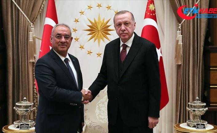 Cumhurbaşkanı Erdoğan DSP Genel Başkanı Aksakal'ı kabul etti