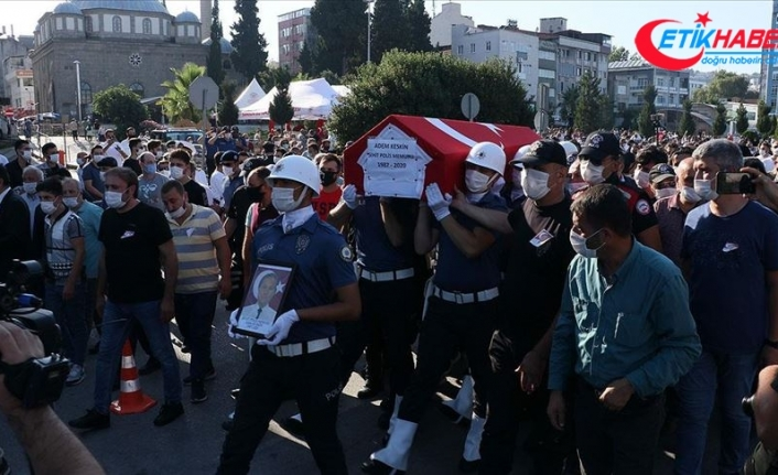 Şehit polis Adem Keskin Samsun'da son yolculuğuna uğurlandı