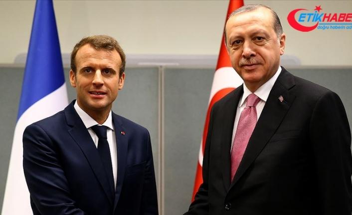 Cumhurbaşkanı Erdoğan Fransa Cumhurbaşkanı Macron ile telefonda görüştü