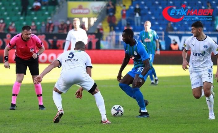 Çaykur Rizespor-Kasımpaşa'yı 2-1 mağlup etti