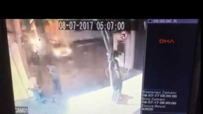 Spikerinin arkadaşını vurduğu an güvenlik kamerasında (Özel)