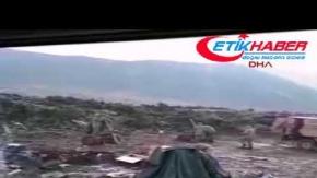 YPG hedeflerine yapılan topçu atışları